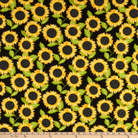 Andover Sunny Bee Sunflowers Black