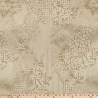 "Premium Quilt Backs 108"" Abstract Tan"
