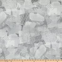 "Premium Quilt Backs 108"" Abstract Grey"