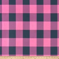 Premier Prints Buffalo Check Polish Pink Deep Navy