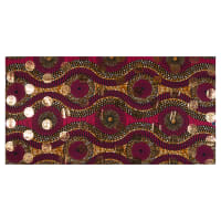 Supreme Osikani African Print Broadcloth 6 Yards Fuchsia/Gold Foil