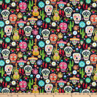 Dear Stella Digital Viva Mexico Day Of The Dead Sugar Skulls Multi