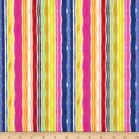 Dear Stella Digital Viva Mexico Water Stripe Multi