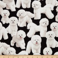 Timeless Treasures Pure Breeds Bichon Frise Black
