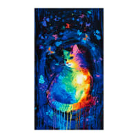 "Timeless Treasures Meow-Za Mystical Cat 24"" Panel Multi"