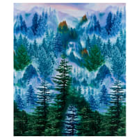 "Timeless Treasures Mountain Vista Effervescent Forest 24"" Panel Multi"