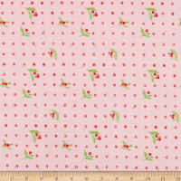 Windham Fabrics Love Letters Flower Dot Rose