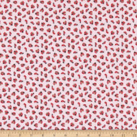 Windham Fabrics Love Letters Lady Bugs Rose