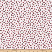 Windham Fabrics Love Letters Lady Bugs White