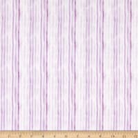 Windham Fabrics Love Letters Watercolor Stripe Lilac