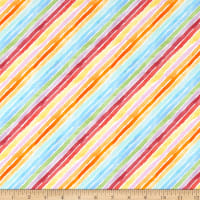 Windham Fabrics Rain Or Shine Rainbow Stripe Multi