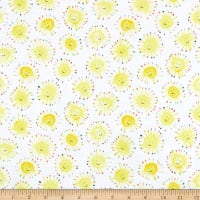 Windham Fabrics Rain Or Shine Sunshine White