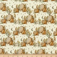 Windham Fabrics Tell The Bees Bee Hives Cream