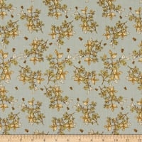 Windham Fabrics Tell The Bees Bee Blossom Grey