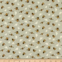 Windham Fabrics Tell The Bees The Bumbles Grey