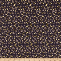 Windham Fabrics Tell The Bees Dandelion Ditsy Aubergine