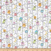 Windham Fabrics Whoos Hoo Tree House White