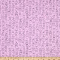 Windham Fabrics Whoos Hoo Owl Party Orchid
