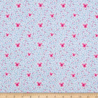 Windham Fabrics Bungalow Butterfly Periwinkle
