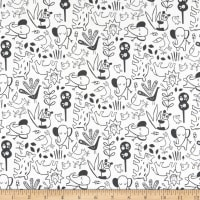 Windham Fabrics Dream It's A Jungle Out There White