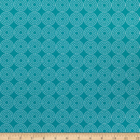 Windham Fabrics Dream Stitched Rings Teal