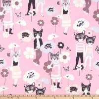 Alexander Henry Cool Cats Pink