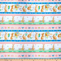 Kanvas Bunnies & Blossoms Stripe Multi