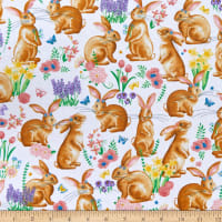 Kanvas Bunnies & Blossoms Bunny Friends White