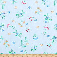 Kanvas Embroidered Elegance Embroidered Floral Buds Blue