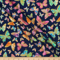 Kanvas Watercolor Wishes Butterfly Wishes Navy