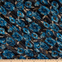 Flower Brocade Turquoise