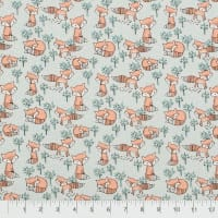Fabric Editions  Charming Woodland Light Grey