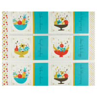 "Riley Blake On The Bright Side Placemat 24"" Panel Teal"