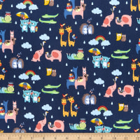 Riley Blake Noahs Ark Two By Two Navy