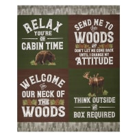 "Riley Blake Send Me To The Woods 36"" Panel Green"