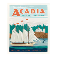 "Riley Blake National Park Acadia 36"" Panel Multi"