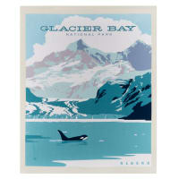 "Riley Blake National Park Glacier Bay 36"" Panel Multi"