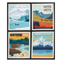 "Riley Blake National Park Pillow Alaska 2 36"" Panel Multi"