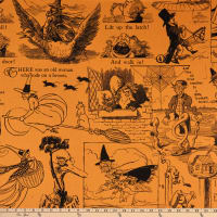 Riley Blake Goose Tales Tall Tales Motifs Orange