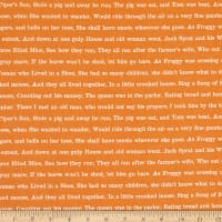 Riley Blake Goose Tales Text Orange