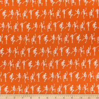 Riley Blake Hocus Pocus Skeletons Orange