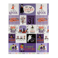 "Riley Blake Hocus Pocus 23"" Panel Purple"