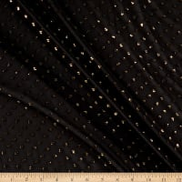 Telio Iris Poly Metallic Swiss Dot Chiffon Gold