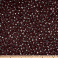Telio Topaz Brushed Hatchi Stretch Knit Animal Print Wine
