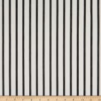 Fabric Merchants Techno Crepe Stretch Knit Vertical Stripe Ivory