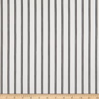 Fabric Merchants Techno Crepe Knit Double Stripe Ivory