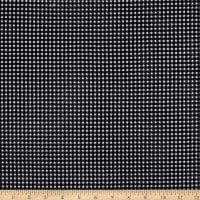 Fabric Merchants Techno Crepe Stretch Knit Gingham Black