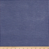 Fabric Merchants Techno Crepe Stretch Knit Gingham Navy