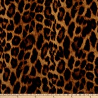 Fabric Merchants Techno Crepe Stretch Knit Large Cheetah Print Black/Taupe