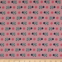 Fabtrends Cotton Poplin Turtles And Dots Pink